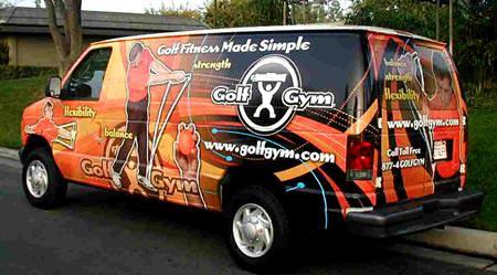 GolfGym,GolfGym Van,golf fitness