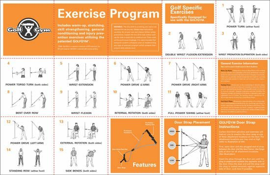 GolfGym exercises,GolfGym Manual,Golf exercises,PowerSwing Trainer,Exercises,GolfGym,golf,golf fitness