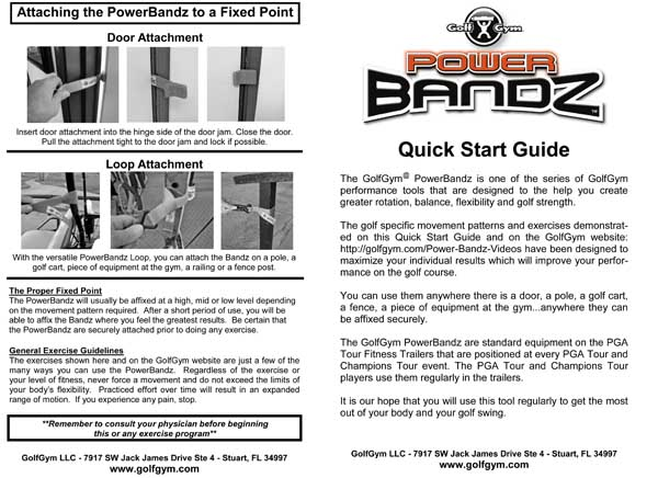 PowerBandz Manual Page 1-