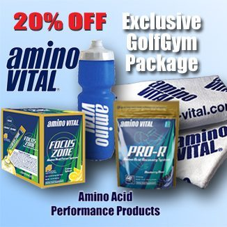 Amino Vital,Golf Focus Recovery Package,Amino Vital,Amino Acids,Focus,Recovery,Golf Towel,Golf Water Bottle