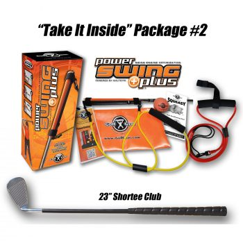 Shortee Club,PowerSWING Plus,GolfGym Take It Inside Package 2,