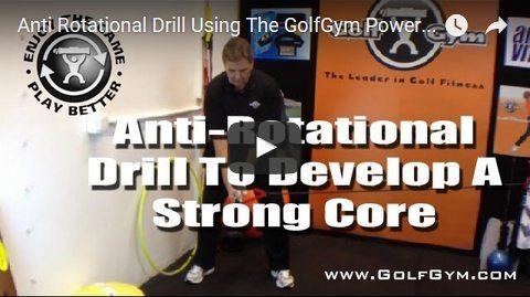 GolfGym,Anti-Rotation Drill,PowerHip Trainer,Golf Swing Strength