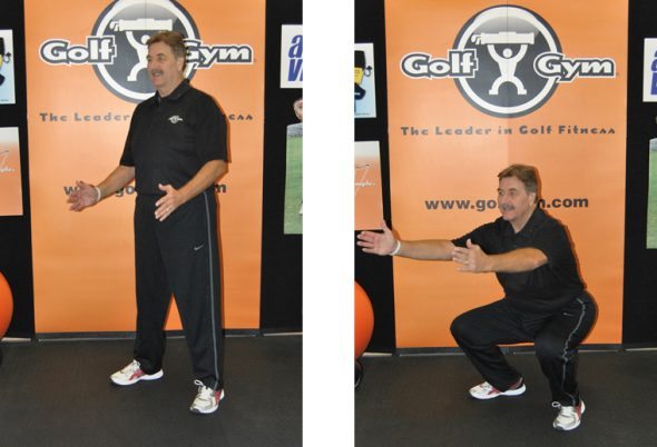 Squat,GolfGym,Strong Legs,Golf Swing